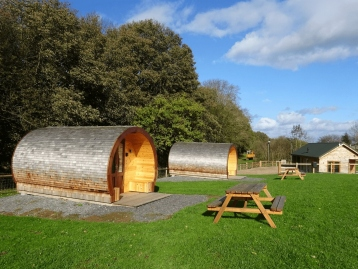 Glamping pods accommodation, near Ellesmere, Shropshire.