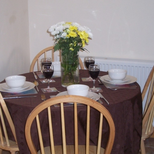Dining at Holiday Let in Ellesmere