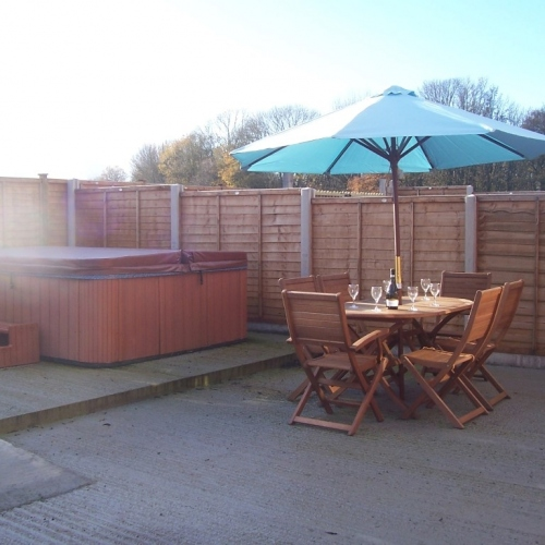Hot Tub at Shropshire Self Catering Accommodation