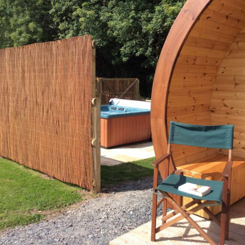 Luxury Glamping Pods with Hot Tub's